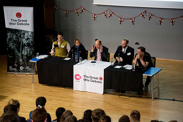 CPG Photography - The Great War Debate held at Oxford Spires Academy in Oxford. December 06 2018.