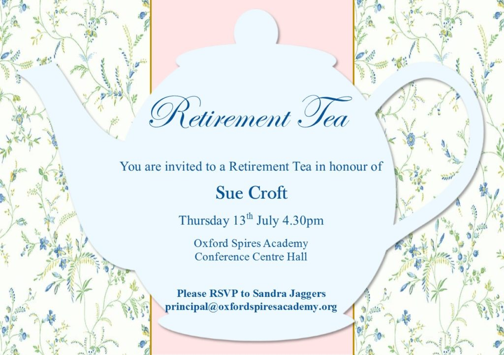 Retirement Tea Invite
