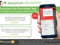 Parentmail app advert